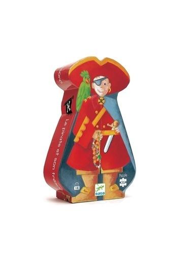 Djeco Djeco Dekoratif Puzzle 36 Parça/The Pirate And His Treasure Pembe